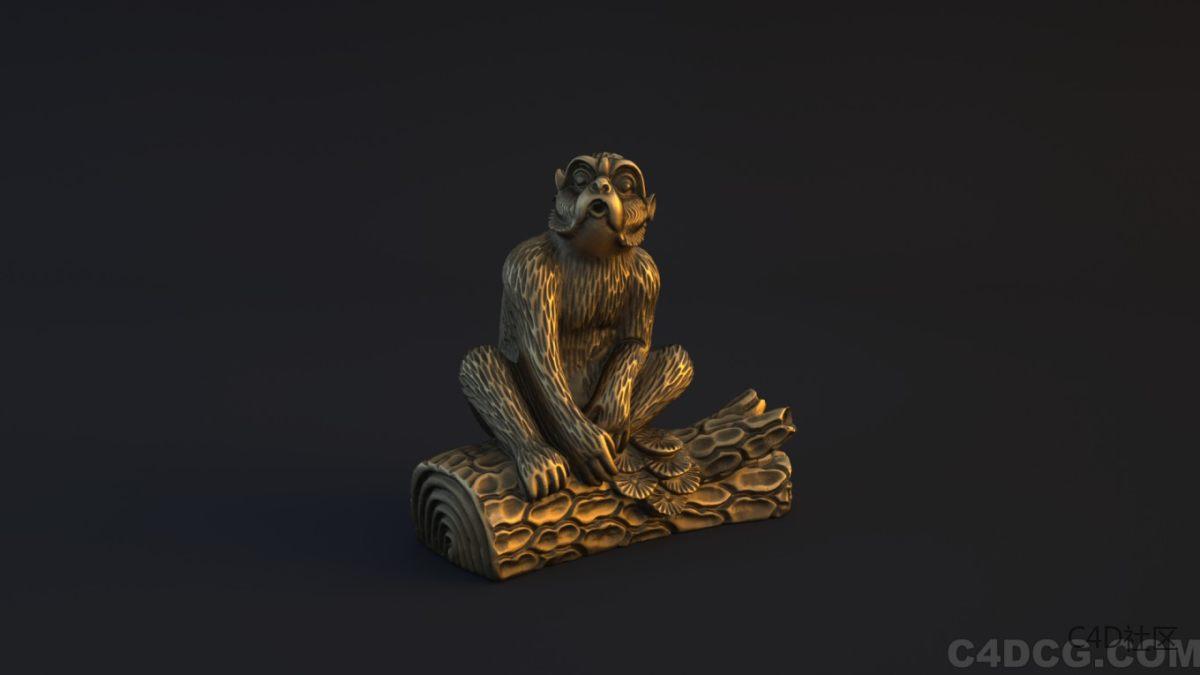十二生肖模型-猴子