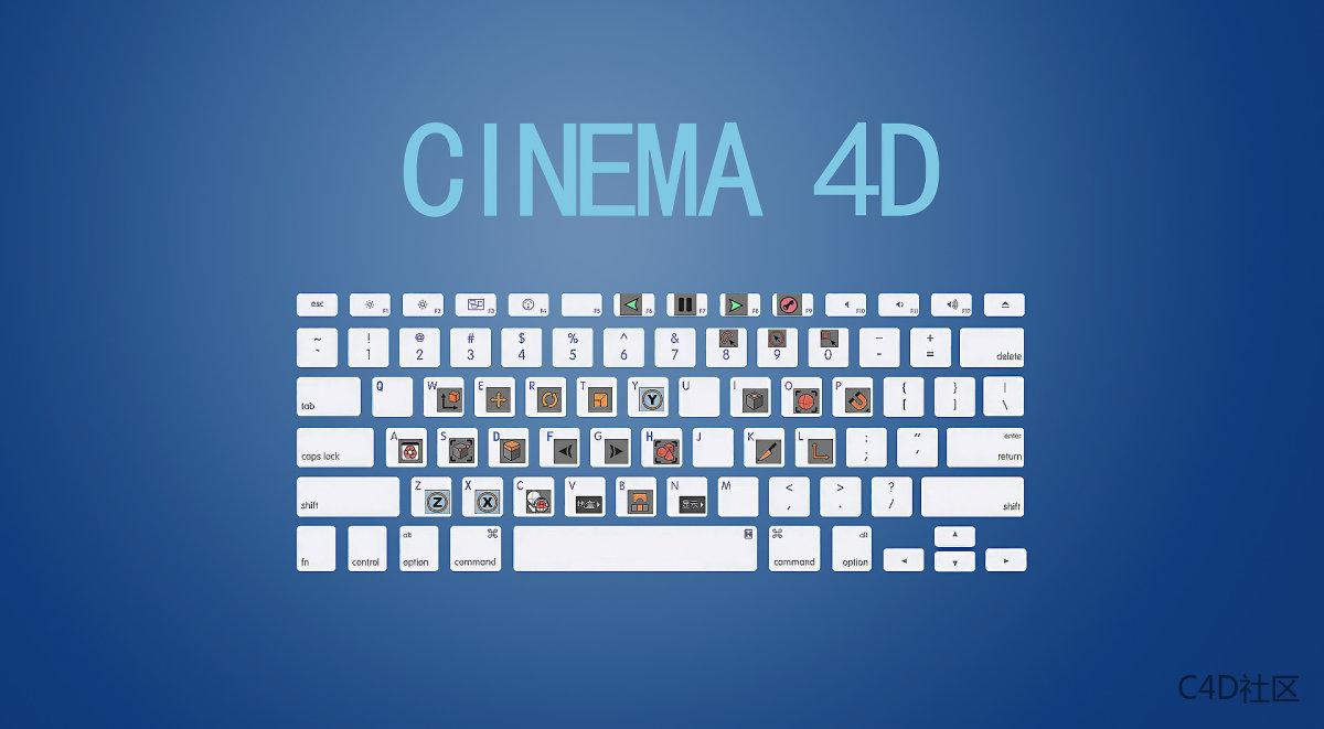 MAXON CINEMA 4D 快捷键KEY大全适配R23