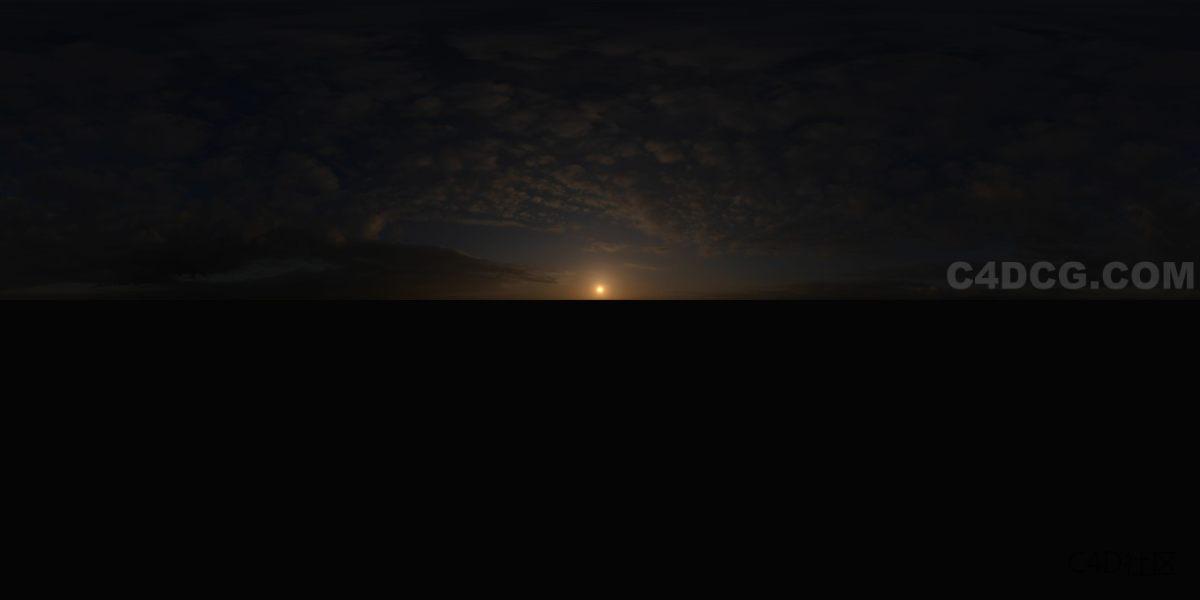 全景天空 (6)夕阳-HDRI天空贴图